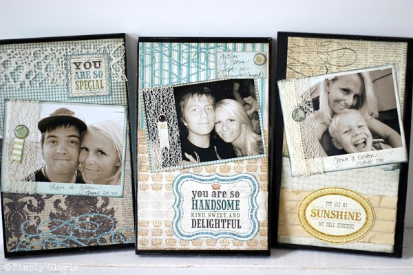 Easy to make Picture Frame Sign with SimplyGloria.com