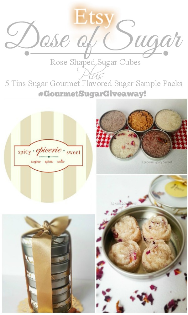 Etsy Dose of Sugar Giveaway with SimplyGloria.com & Epicerie Spicy Sweet Shop #giveaway #Etsy #GourmetSugars