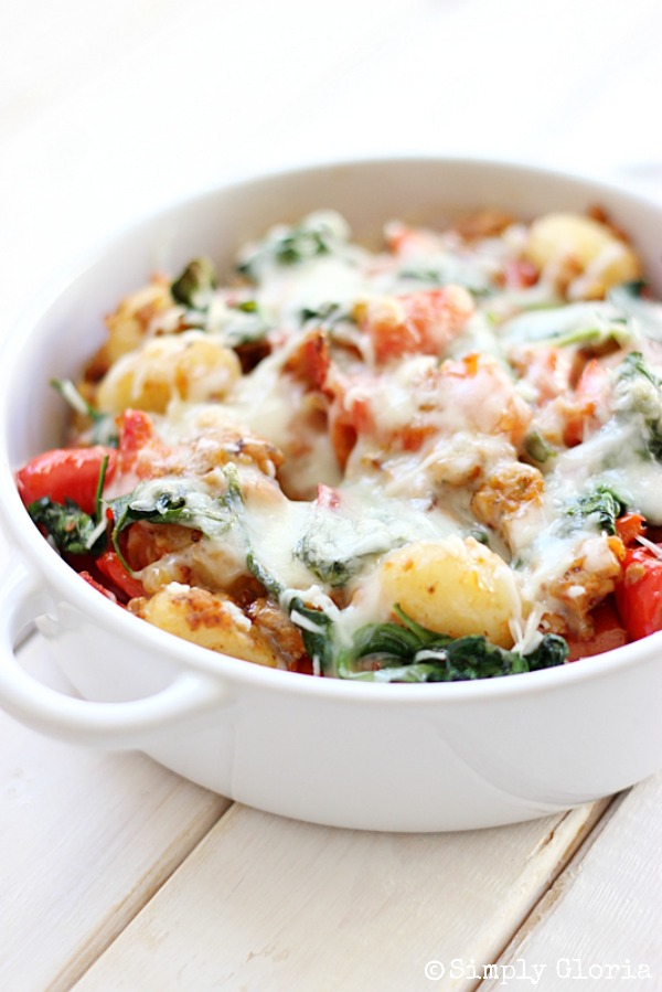 cheese gnocchi ham and cheese gnocchi of baked gnocchi with two ...