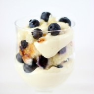 No Bake Blueberry Muffin Cheesecake Trifle