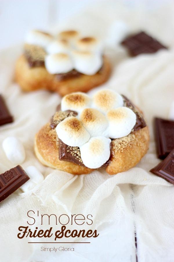 S'mores Fried Scones with SimplyGloria.com #FriedScones