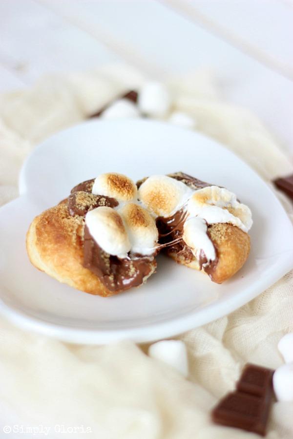 S'mores Fried Scones with SimplyGloria.com #chocolate
