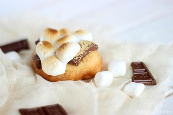 S'mores Fried Scones with SimplyGloria.com #dessert