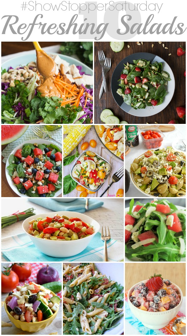 10 Refreshing Salads with SimplyGloria.com #showstoppersaturday