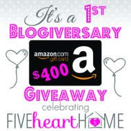 $400 Amazon Gift Card {Giveaway}