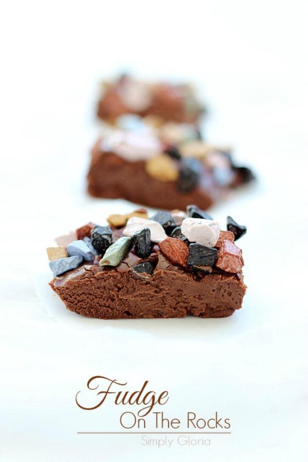 Fudge On The Rocks #Fudge by SimplyGloria.com