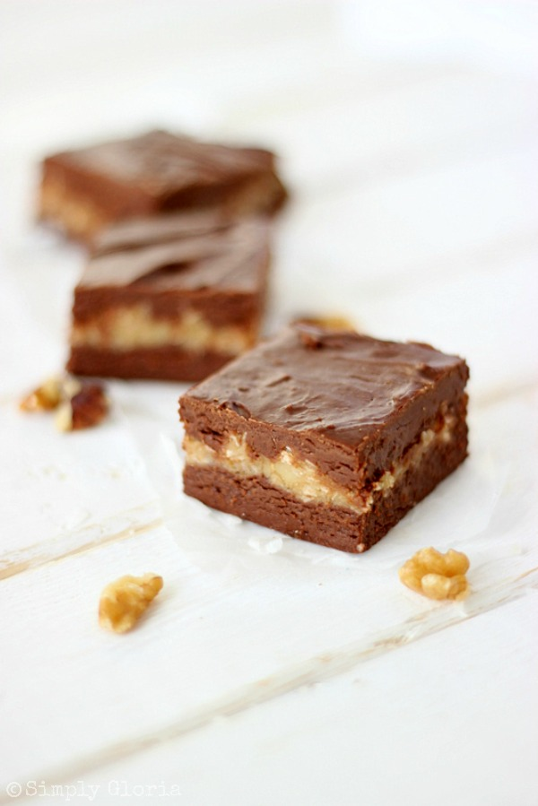 German Chocolate Fudge with SimplyGloria.com #Fudge