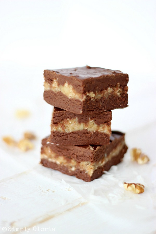 German Chocolate Fudge with SimplyGloria.com #coconut