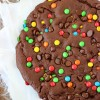 Giant Double Chocolate Cookie with SimplyGloria.com #doublechocolate