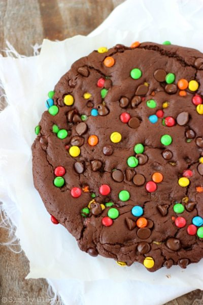 Giant Double Chocolate Cookie - Simply Gloria