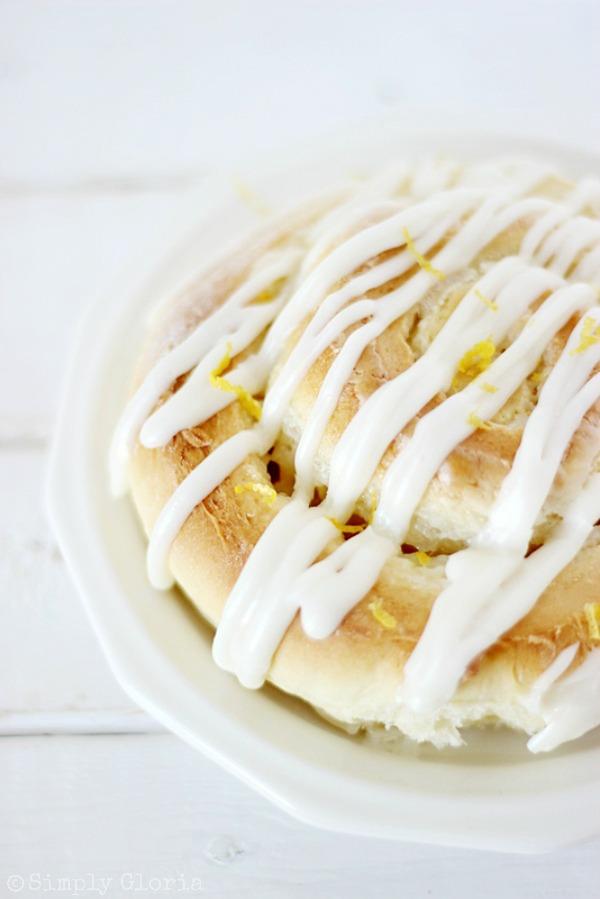 Sticky Lemon Sweet Rolls with Lemon Cream Cheese Icing! SimplyGloria.com