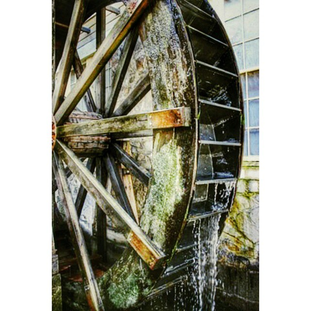 One of my favorites at #GardnerVillage. .. the 16 foot water wheel.