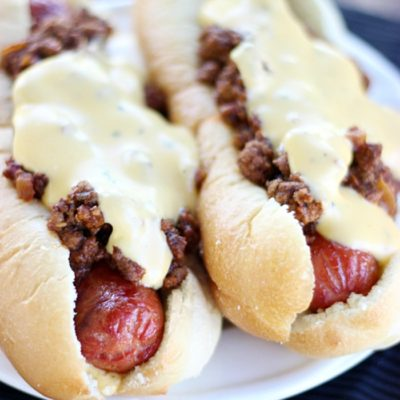 Cheesy Sloppy Dogs