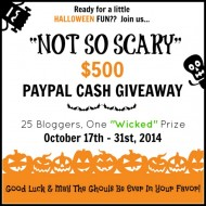 Not So Scary Halloween Giveaway ~ Win $500 Paypal Cash!