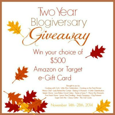 $500 Target or Amazon Giveaway!
