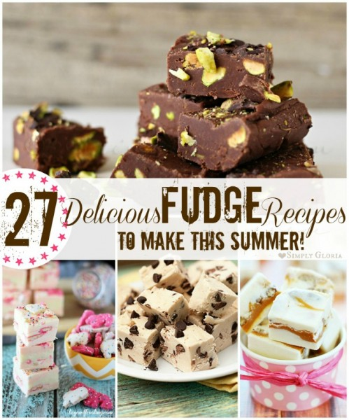 27 Delicious Fudge Recipes To Make This Summer!  with Simply Gloria and Kleinworth & Co. #Fudge