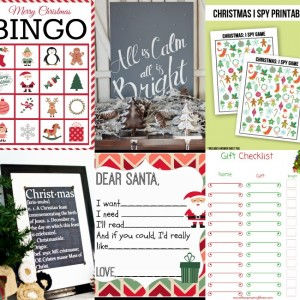 Christmas Printables with SimplyGloria.com and friends! #ShowStopperSaturday