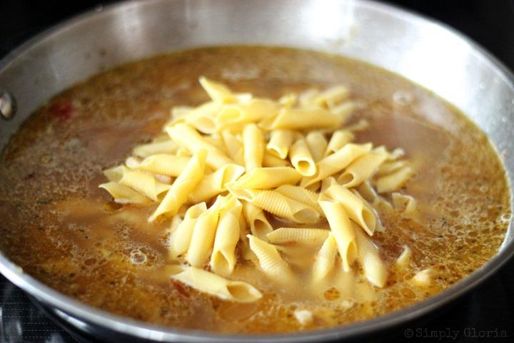 Creamy Chicken Pasta Skillet with SimplyGloria.com 2
