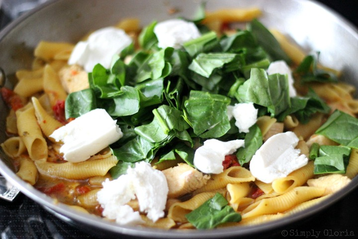 Creamy Chicken Pasta Skillet with SimplyGloria.com 4