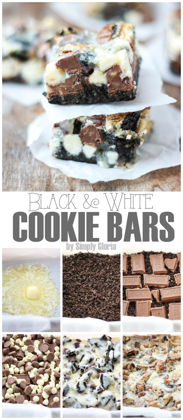 Black and White Cookie Bars are SO delicious! #Oreos #chocolate