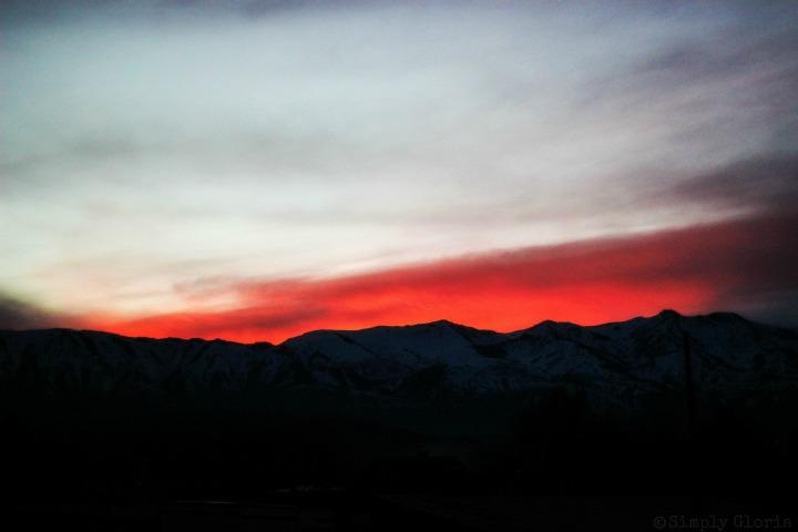 Sunset with SimplyGloria.com #February