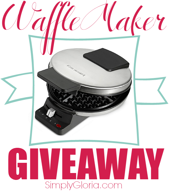 Waffle Maker Giveaway with SimplyGloria.com