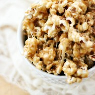 Cookie Butter Sticky Popcorn