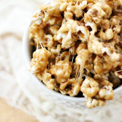 Cookie Butter Sticky Popcorn