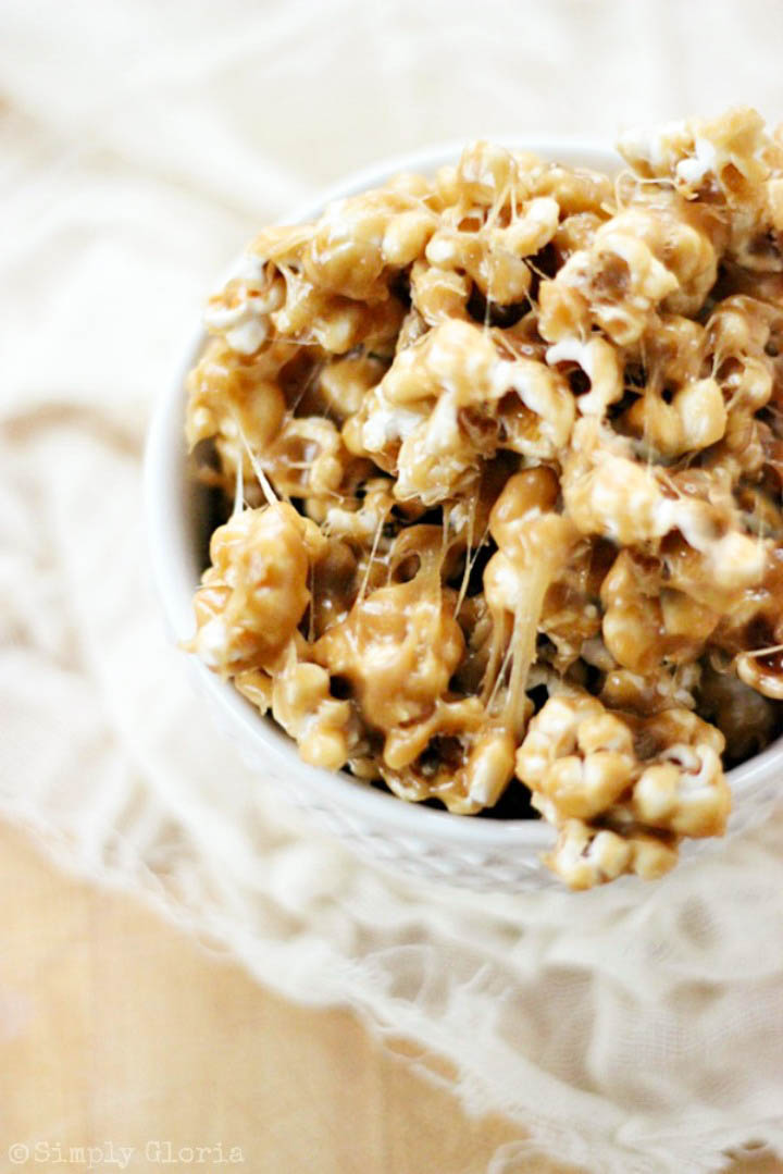 Biscoff Cookie Sticky Popcorn #Biscoff #CookieSpread