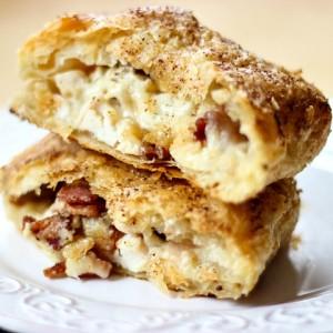Chicken Alfredo Bacon Pastry Pockets via SimplyGloria.com #chicken
