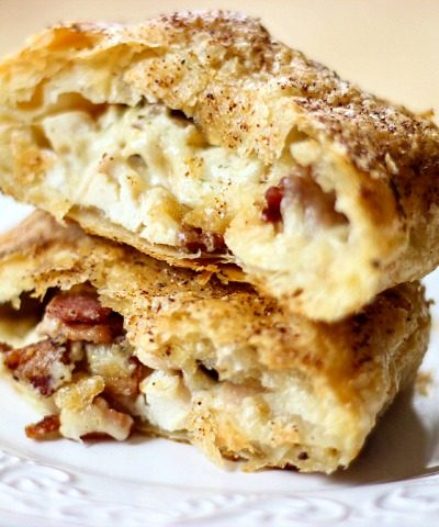 Chicken Alfredo Bacon Pastry Pockets