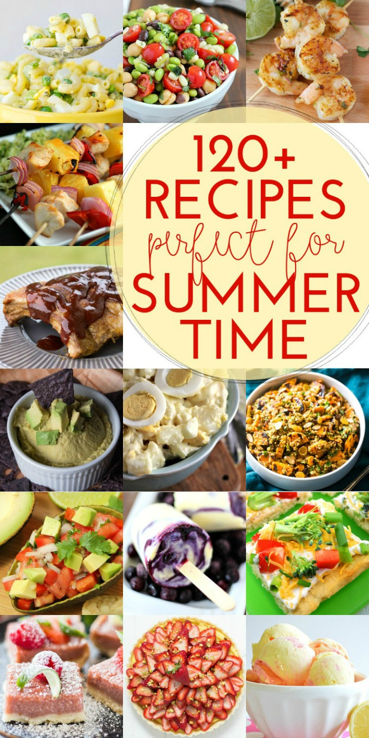 Over 120 Recipes with SimpllyGloria.com and friends! #summer #recipes