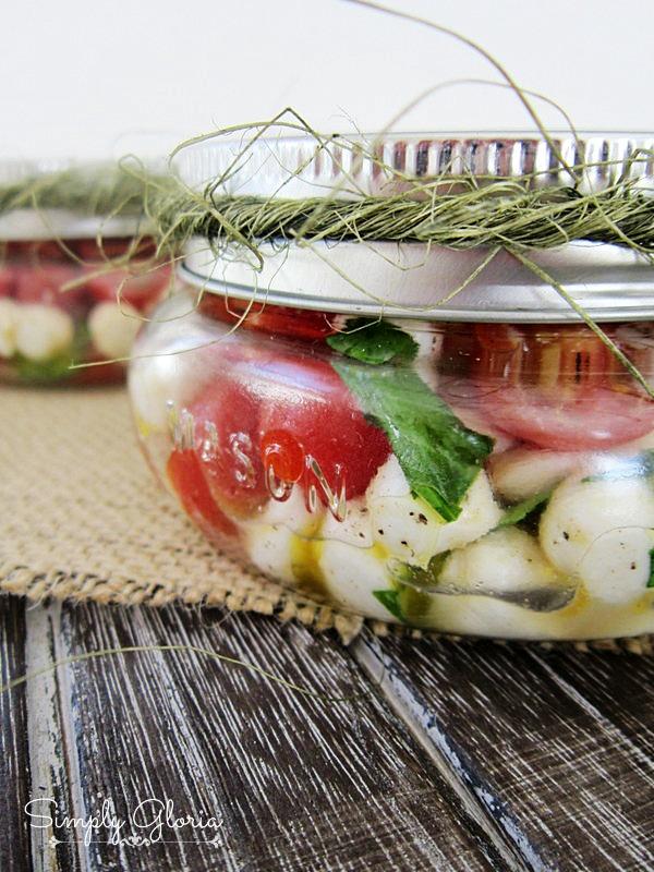 Picnic Style Caprese Salad by SimplyGloria.com