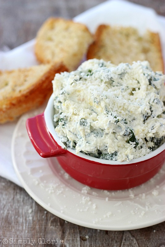 Spinach Artichoke Parmesan Dip - Easy to make and great hot or cold!