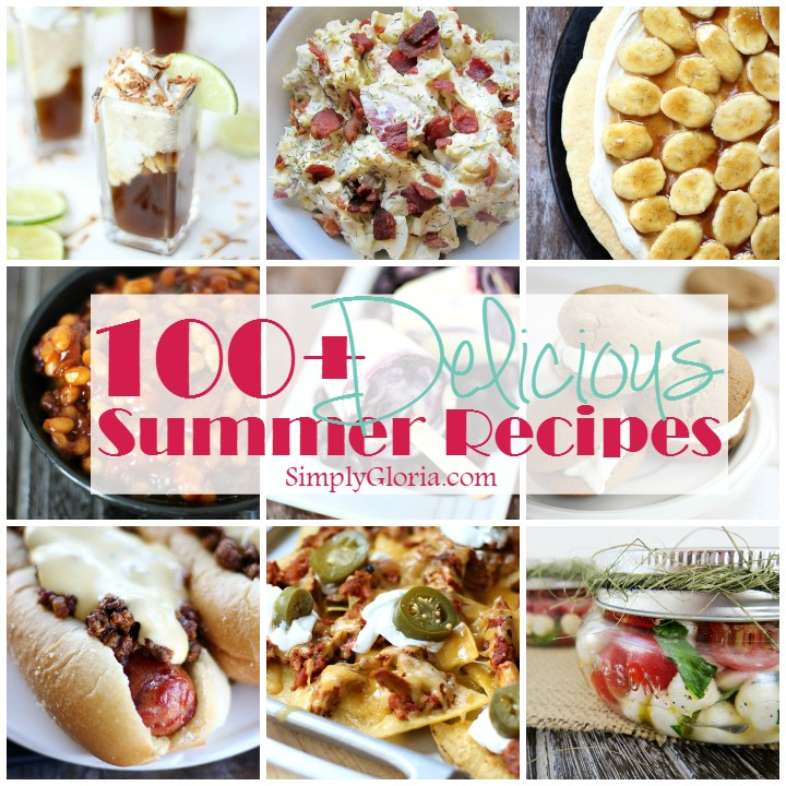 The perfect recipes to make for your next summer party!  SimplyGloria.com and friends