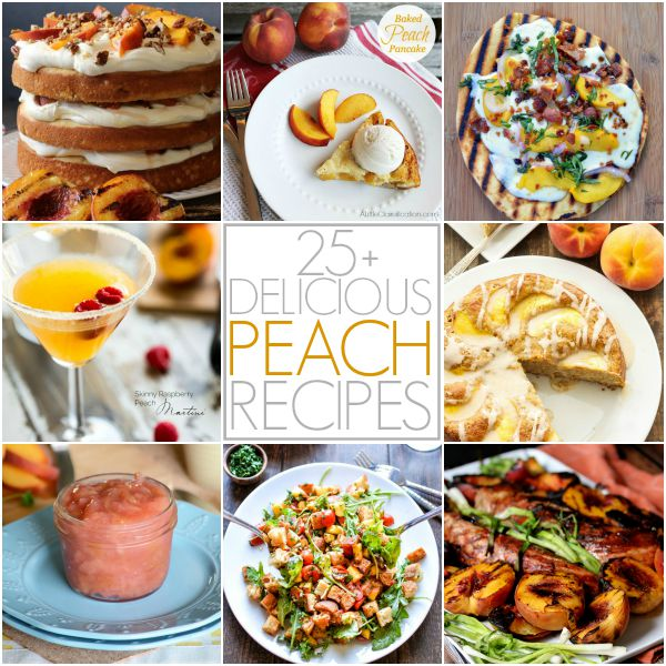 More than 25 Peach Recipes from your favorite bloggers!  #Peach