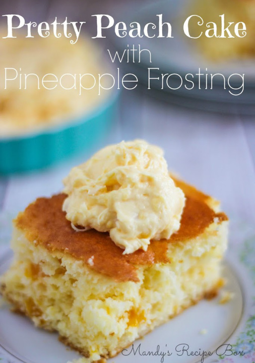 Pretty-Peach-Cake-with-Pineapple-Frosting