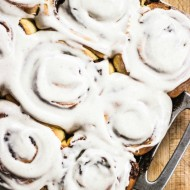 Pumpkin Cinnamon Rolls with Cinnamon Cream Cheese Icing