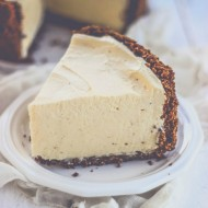 Easy (No Bake!) Eggnog Cheesecake Pie