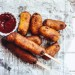 Homemade Corn Dogs drenched in decadent buttermilk batter and fried!