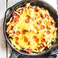 Pepperoni Pizza Pasta Bake (for Two!)