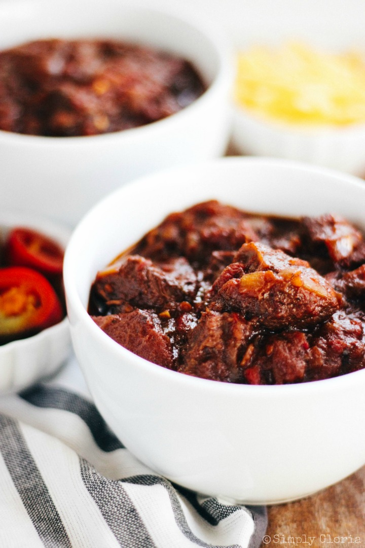 Chunky Beef Chili simmers to perfection!