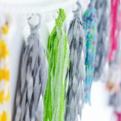 No-Sew Fabric Tassel Garland