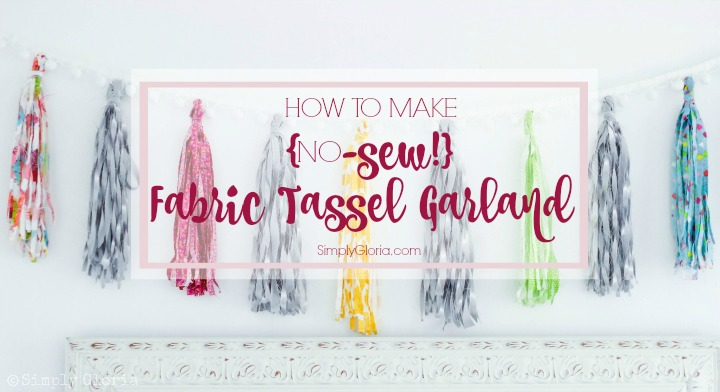This No-Sew Fabric Tassel Garland is simple and fun with your favorite #fabric!